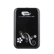 Портативный инструмент 2.5 дюймов SATA HD HDD с USB 3.0/2.0 Внешний Жесткий Диск Корпус/Случай/Cad для компьютера передачи данных/резервное копирование