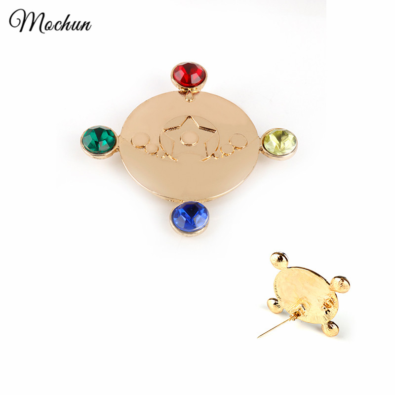 MQCHUN 2017 Hot Anime Sailor Moon Moonlight Memory Series Henshin Brooches Pins With Crystal Star Jewelry Transformation Brooch image