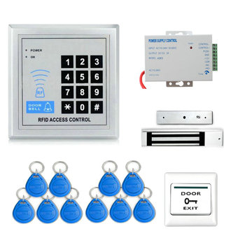 RFID Door Access Control System Kit (180kg 350LB Electric Magnetic Lock+Access Control Power Supply + Door Entry keypad )