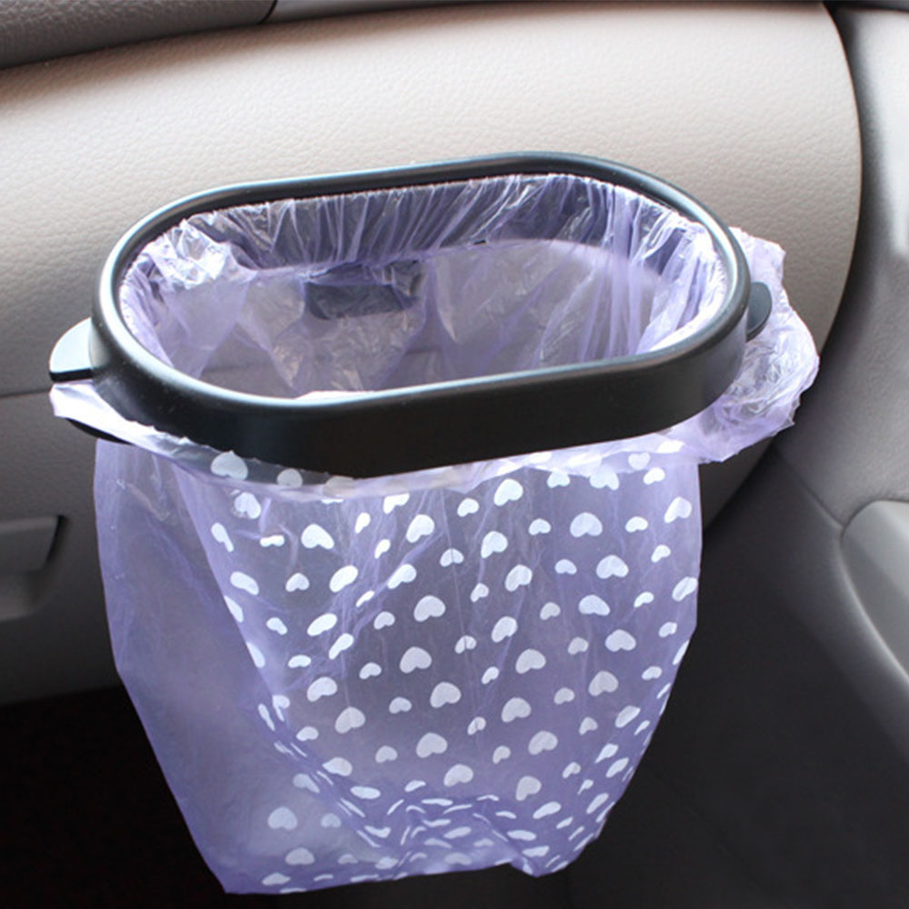 Trash Can Frame For Car Automoboiles Trash Bin Frame Auto Garbege Waste Bag Holder Plastic Organizer Box Accessories