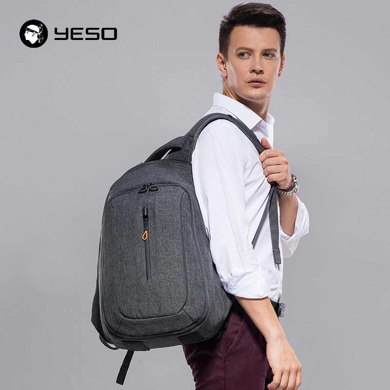 YESO USB Charging Backpack Fit For 15 Inch Laptop Backpack Men Large Capacity Waterproof Anti Theft Backpacks Bags For Teenager