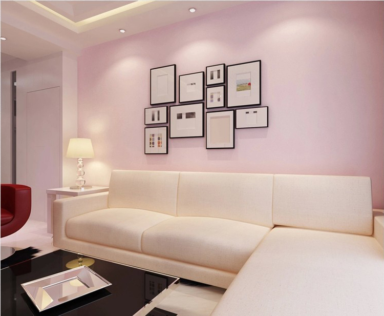 US $33.39 9% OFF|Plain pink wallpaper warm living room bedroom wallpaper  background clothing Hotel Pure Blue Black free shipping wallpaper-in ...