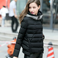 Autumn Winter Jacket Women 2016 Down Cotton Jackets Slim Short Cotton Padded Coats Hooded Thick Warm Outerwear Parka  LX167