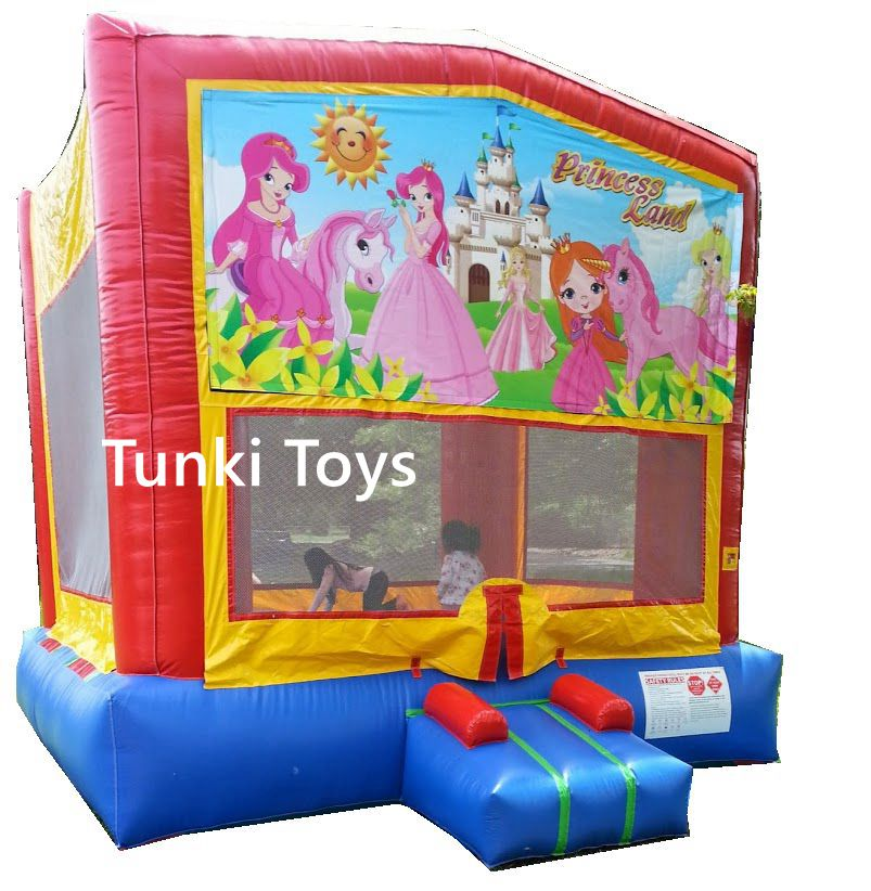 inflatable princess jumping castle land moonwalkerinflatable princess jumping castle land moonwalker