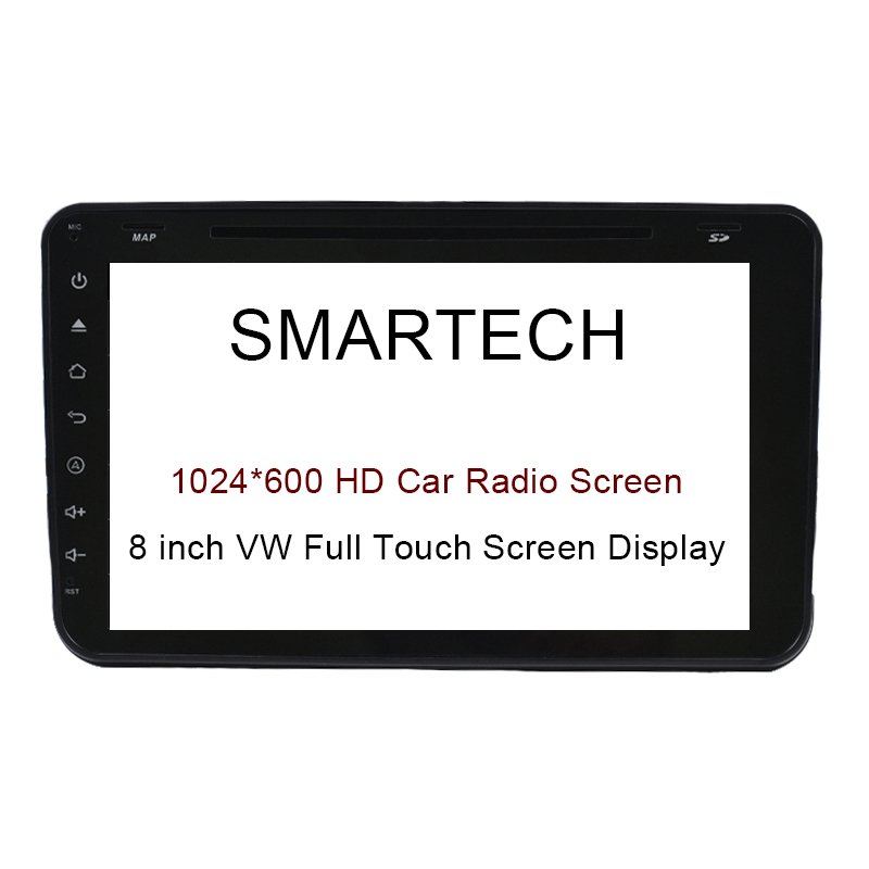 SMARTECH VW 8 Inch Full Touch Screen Display Only 1024*600 HD Screen Resolution Android Car Radio Radio Player Screen 8 4 8 inch industrial control lcd monitor vga dvi interface metal shell open frame non touch screen 800 600 4 3