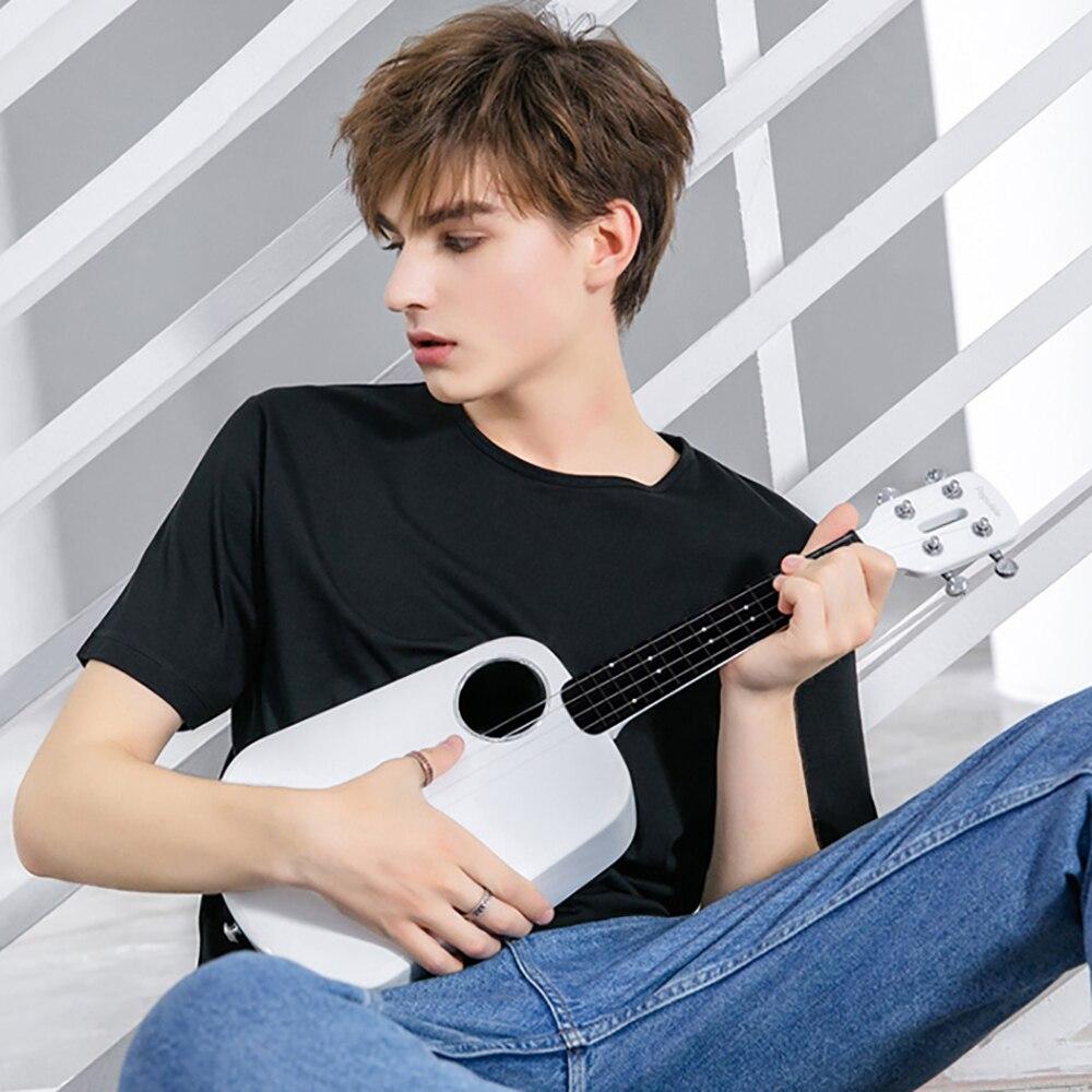 Ukulele Populele 2 LED Bluetooth USB Smart Ukulele APP Controle 18 Tand Gesloten Knop Speelgoed Muziekinstrument Geschenken