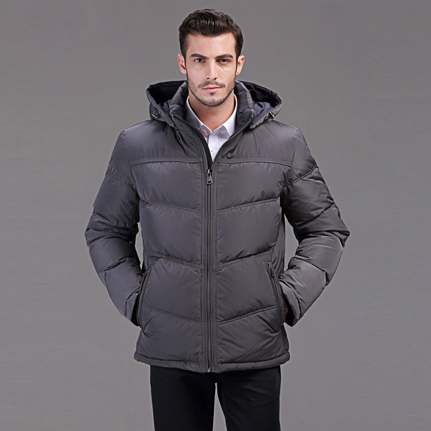 winter down jacket men short design business casual with a hooded duck down jacket for minus 40 degrees warm coat 46-54 Q136