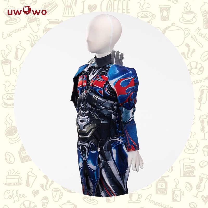 オプティマスプライムボーイズ衣装コスプレスーパーヒーロージャンプスーツ子供の衣装カーニバルハロウィーンの衣装誕生日パーティーボーイギフト