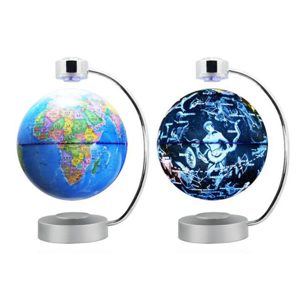 8 Inch Magnetic Levitation Globe With LED Light Electronic Floating constellation Home Bedroom Study Room US EU UK AU Plug