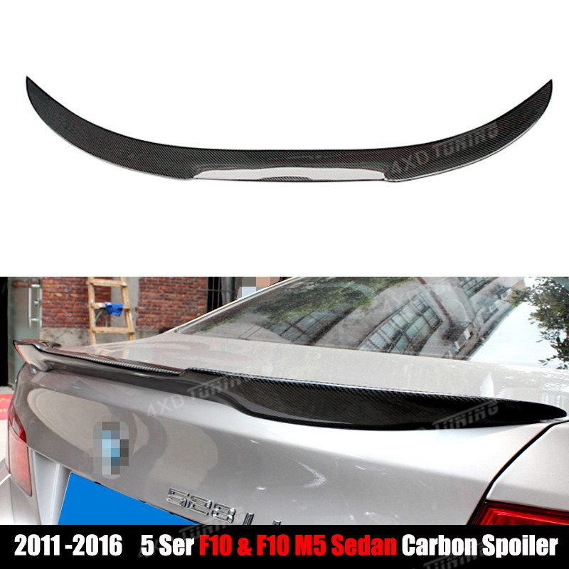 For BMW F10 Carbon Spoiler M4 Style 5 Series F10 520i 525i 528i 530i 535i & F10 M5 Carbon Fiber Rear Spoiler Rear Trunk 2010 -ON glitter flatback crystal resin rhinestones 2 6mm aquamarine ab color new design for nail art decorations stick drill non hotfix