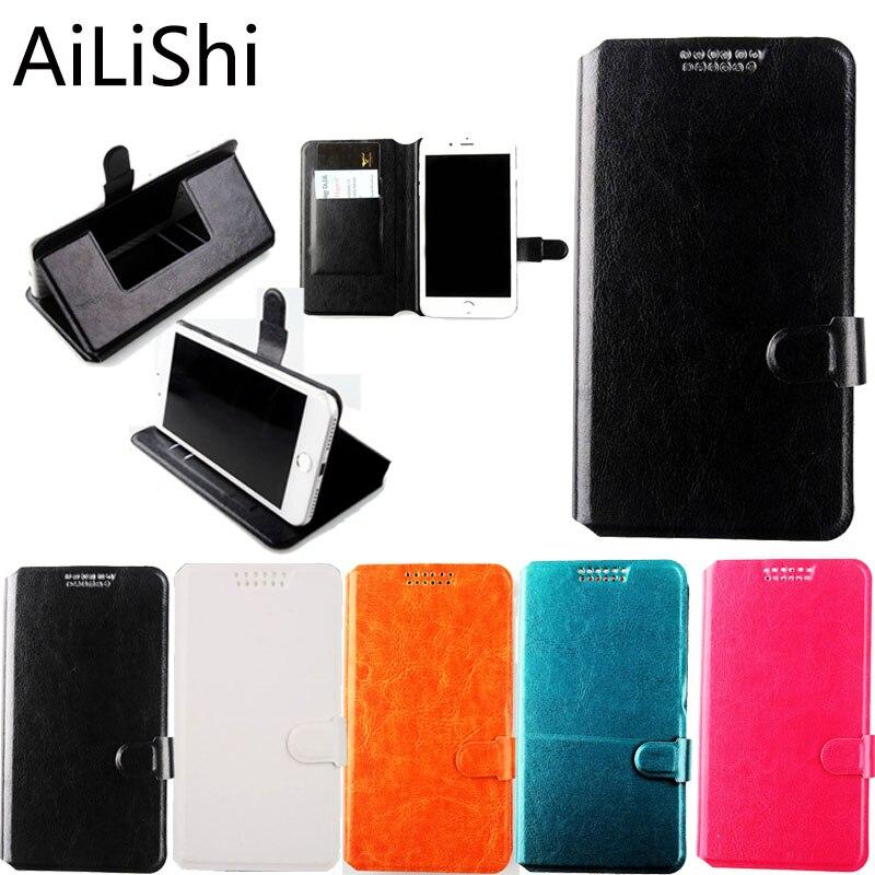 AiLiShi Para Micromax Q415 Q351 Q409 Q379/Yu Yureka Stand Com Slot Para Cartão de Titular Caso de Telefone Caso de Couro Da Aleta 5 cores
