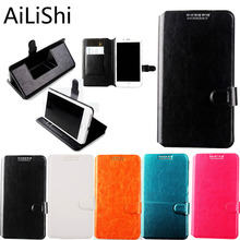 AiLiShi For Micromax Q415 Q351 Q409 Q379 / Yu Yureka Phone Case Holder Stand With Card Slot Flip Leather 5 Colors