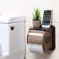 Fashionable Waterproof Tissue Box Holder for kitchen or Toilet Household Roll Paper Holder Free Punching ZJ06-92