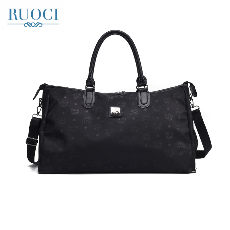 RUOCI 2018 Ladies Black Travel Bag Waterproof Nylon Large Capacity Women Handbag Casual  ...