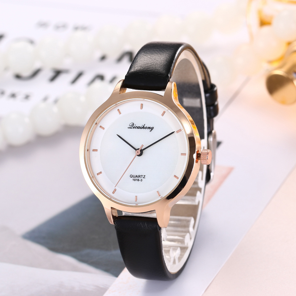 2018 New Arrival Minimalist Ultrathin Wrist Watches Fashion Leather Strap Quartz Men Women Watch 2018