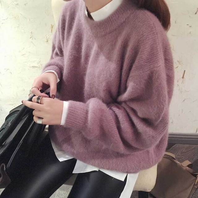 410116298cdc0 Harajuku Autumn Winter Oversized Soft Warm Christmas Sweater with deer Pull  femme Women Pullovers korean Sweaters