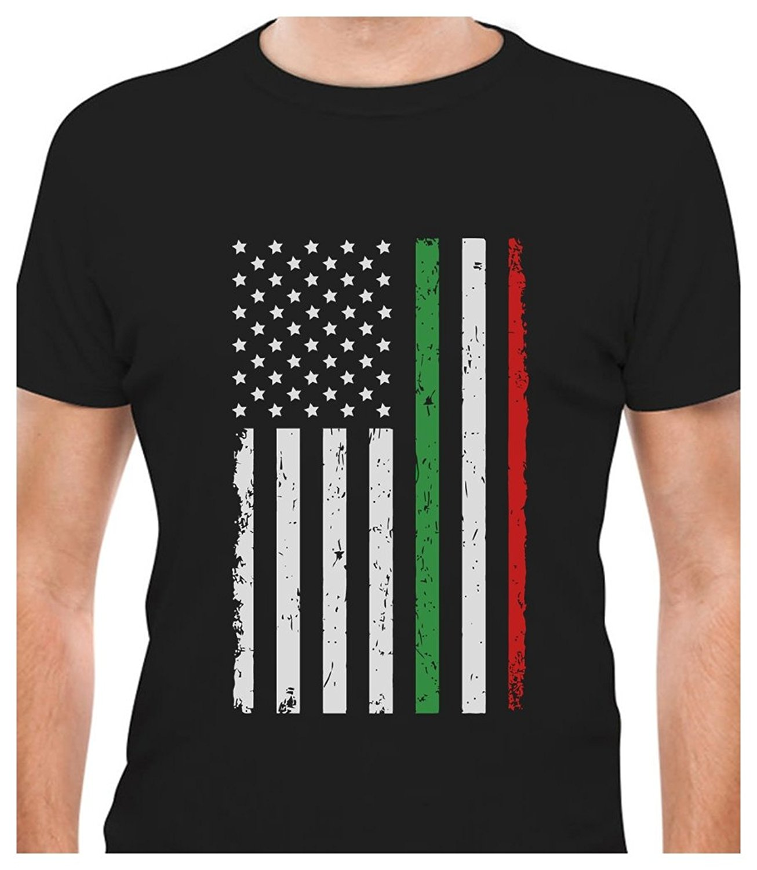 Design t shirt online usa - Printed Tee Shirt Design Big Distressed Italian American Flag Italy U S A T Shirt Circle