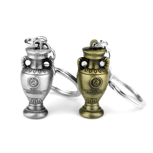 2016 European Football Championship Trophy Keychain Henri Delaunay Cup Key Rings For Gift Chaveiro Car chains Souvenir