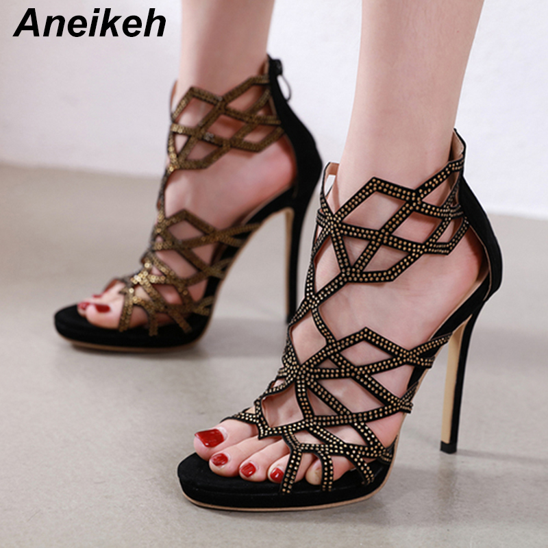 WOmen/'s High Stilettos Heels Peep Toe Lace Up Gladiator Hollow Out Sandals Shoes