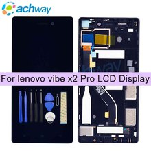 "For 5.3"" Lenovo Vibe X2 Pro LCD Display Touch Screen Digitizer Assembly With Frame Replacement For Lenovo X2PT5 Display"