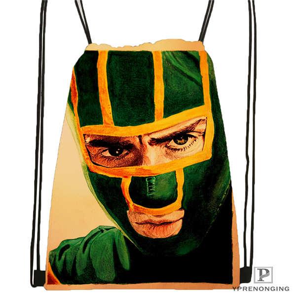 Custom Kick-ass Drawstring Backpack Bag Cute Daypack Kids Satchel (Black Back) 31x40cm#2018611-4