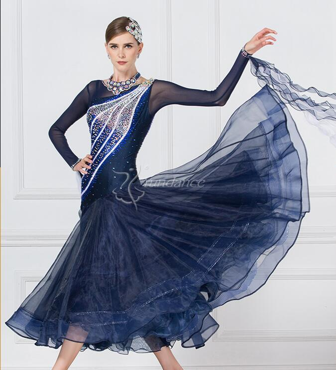 Custom Ballroom Dress Lycra Girls Ballroom Waltz Dresses Viennese Waltz Dress Competition American Smooth  Dress