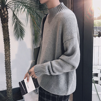 2017 Autumn And Winter Casual New Product Sweater men Male Leisure Time O-Neck Turtleneck Sleeve Knitted Plus Size