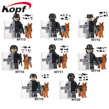 Legoing Military Special Forces Soldiers Bricks Figures Guns Weapons Armed SWAT Building Blocks Ww2 Toy Compatible Legoings City(China)