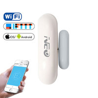 Neocoolcam vida inteligente app janela da porta alarme sensor detector de alarme de segurança em casa alertas apoio ifttt tuyasmart