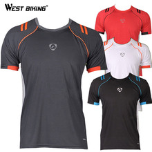 WEST BIKING Quality Male Running Cycling Short Sleeve Jerseys O-neck Men Bike Bicycle Tshirts Slim Fit Quick Dry T-shirts