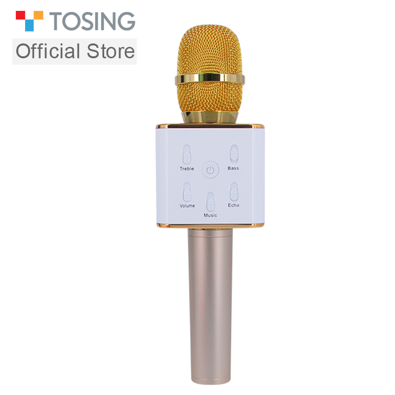 TOSING Classic Q7 Original Wireless Bluetooth Magic Karaoke Microphone With Speaker MIC Black Carring Case Fun