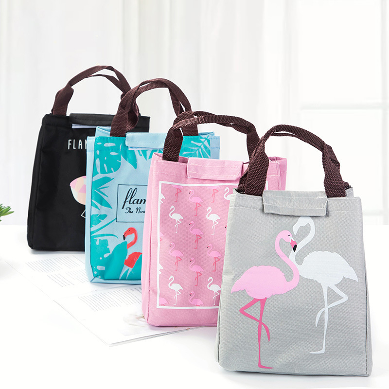Fashion Portable Insulated Oxford lunch Bag Thermal Food Picnic Lunch Bags for Women kids Men Cooler Lunch Box Bag Tote