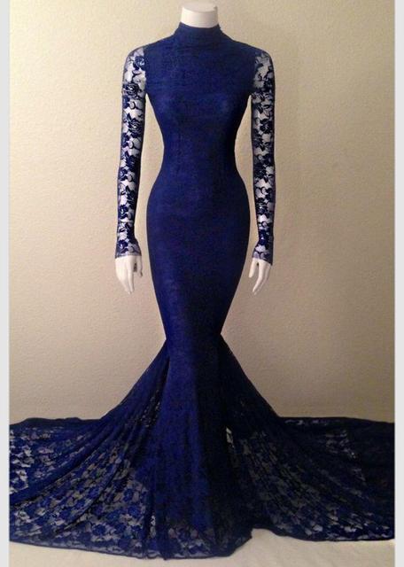 Vestidos de noche azul marino 2016