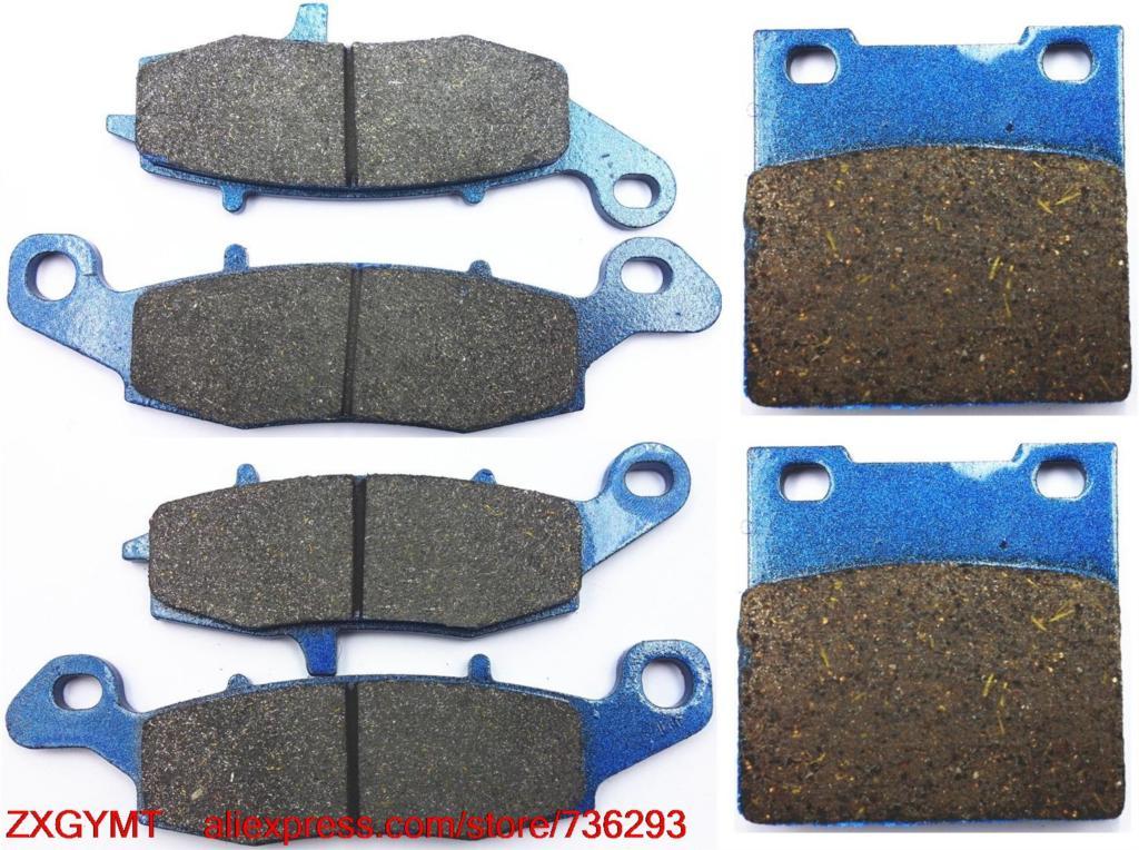 цена на Motorcycle Semi-Metallic Disc Brake Pads Set for SUZUKI GSF600 GSF 600 Bandit / S Bandit 2000 - 2004