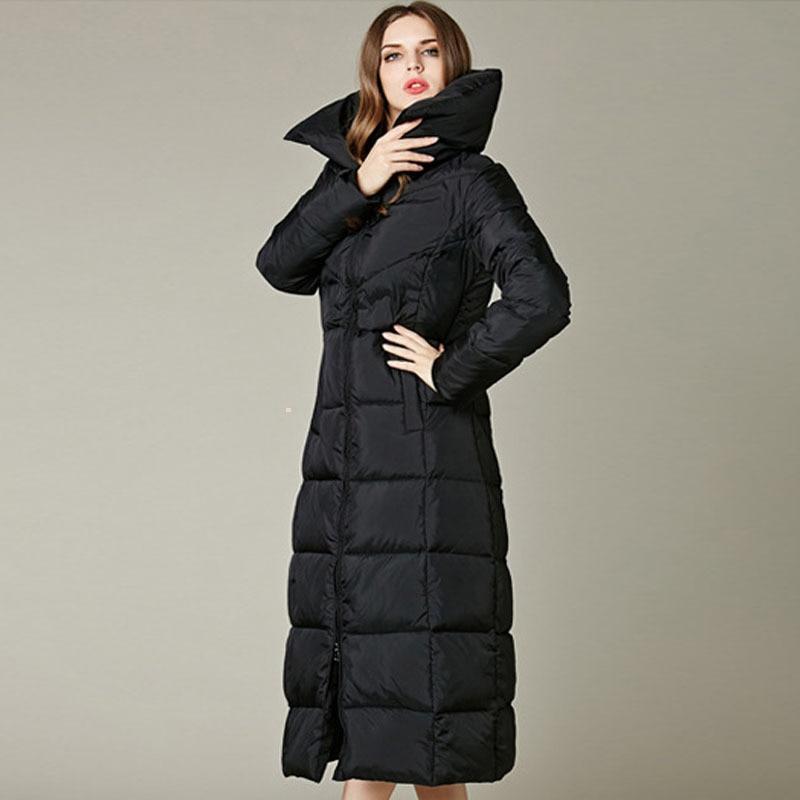 CIVICHIC Hot Fashion Lady Elegant Thicken Down Jacket Woman Knee ...