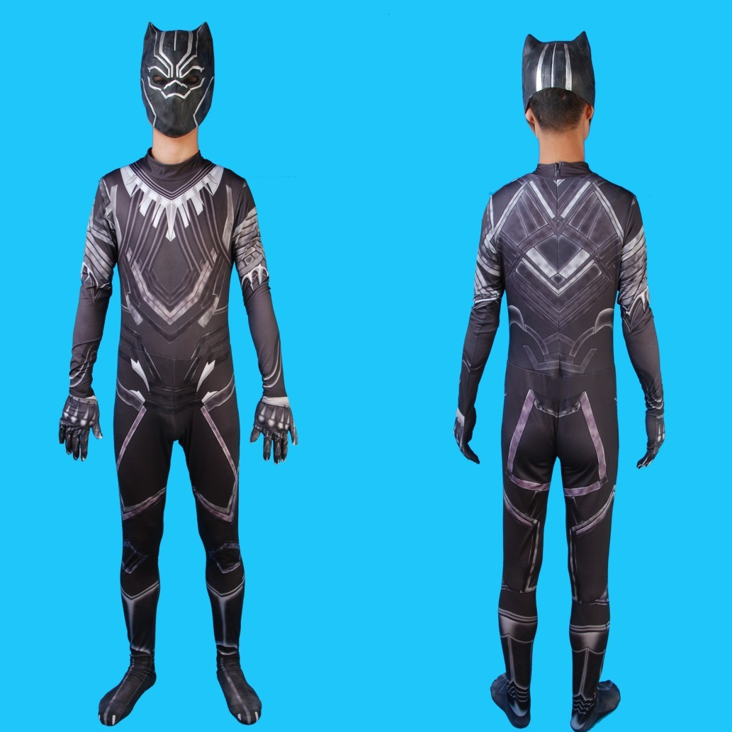 The Best 2018 Black Panther Costume Marvel Movie Captain America Cosplay Clothing Suit Party Halloween Costumes For Men Kids Children Boy Buy One Get One Free