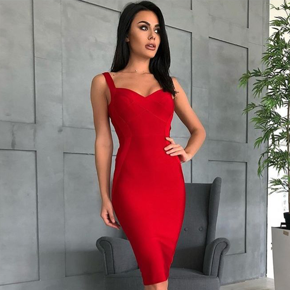 Image 5 - Adyce 2019 New Woman Bandage Dress Yellow White Red Blue NudeBackless Club Dress Sexy Celebrity Bodycon Club Party Dress Vestido-in Dresses from Women's Clothing