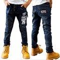 Pantalones de los niños del otoño del resorte pantalones vaqueros niños pantalones casuales 8 niños pantalones vaqueros masculinos pantalones big boy pantalones casuales para 7-15 niños outwear