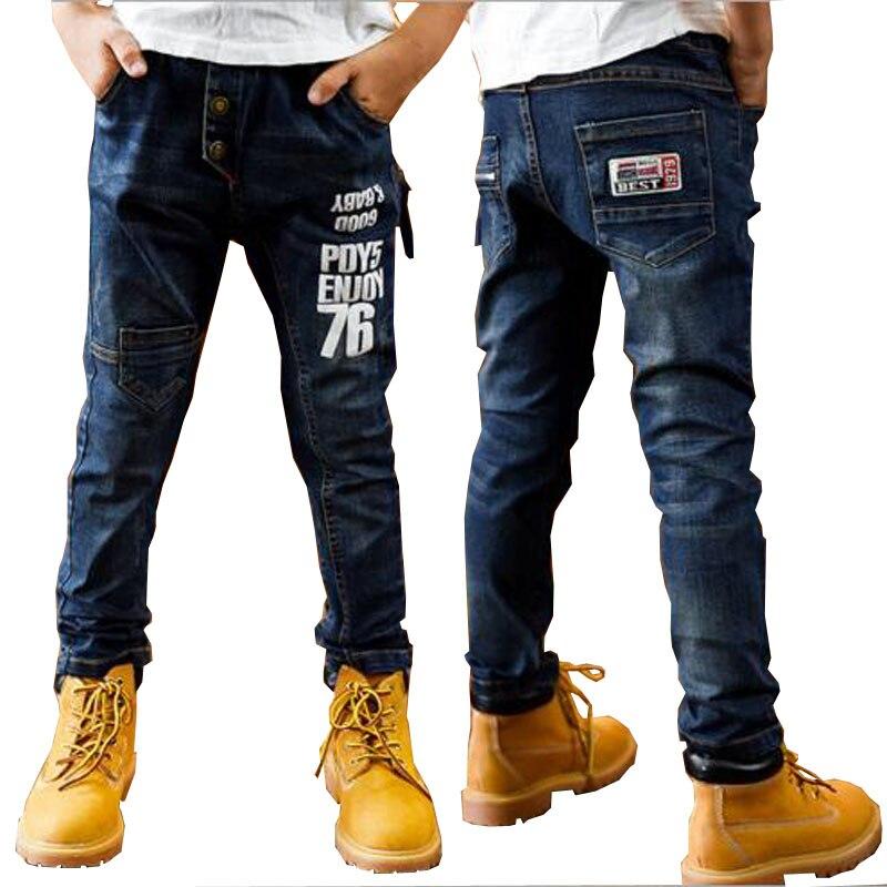 kinderen broek lente herfst jeans kinderen casual broek 8 kind jeans - Kinderkleding