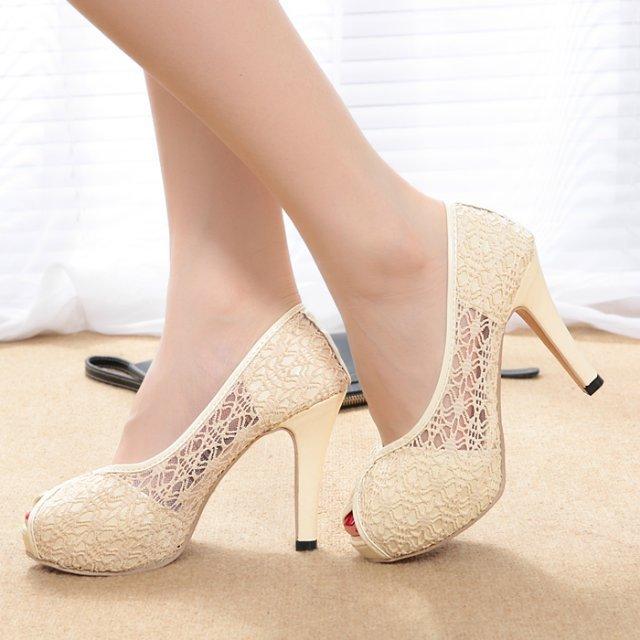 Zapatos blancos Tacón de aguja para mujer Xj1HDcL3k