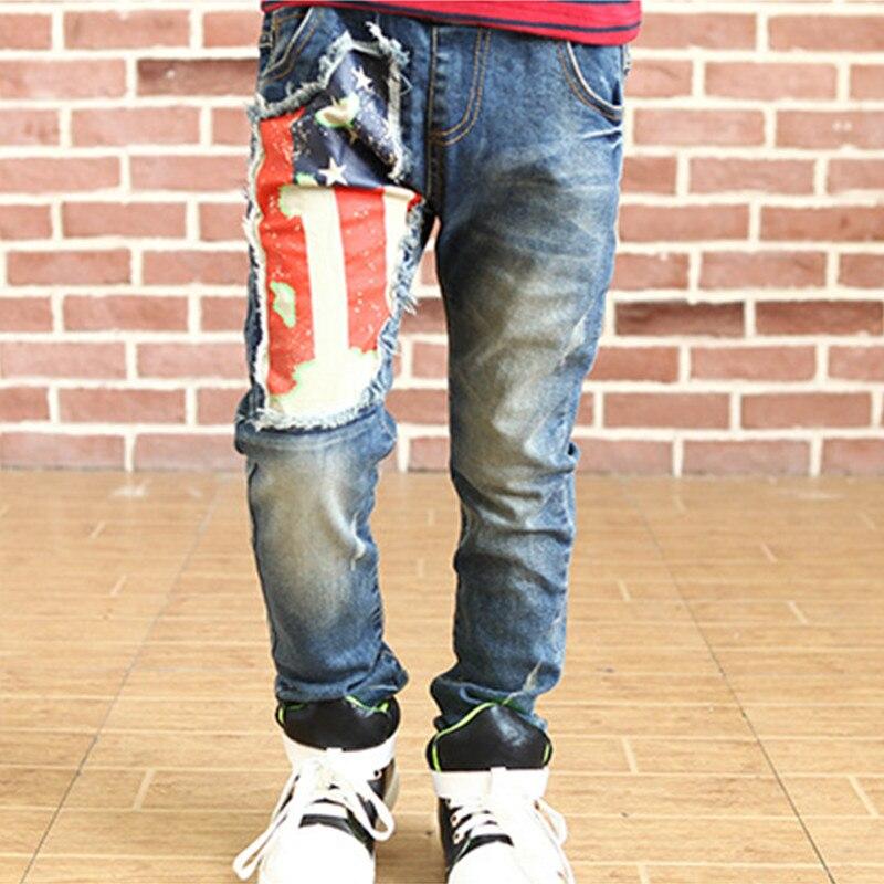 4b228798dd0 2018 Fashion Boys Fashion Spring And Autumn Children Denim Pants Big ...