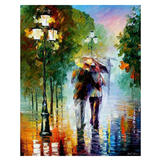 Paintworks Paint By Number Kits Diy Oil Painting Walking In The Rain