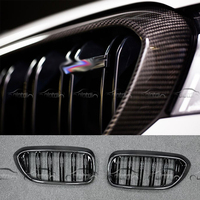 G30 M5 Style Car styling Kidney Real Carbon Fiber & M color Auto Front Racing Grills Grille for BMW G30 F90 M5 New 5 Series