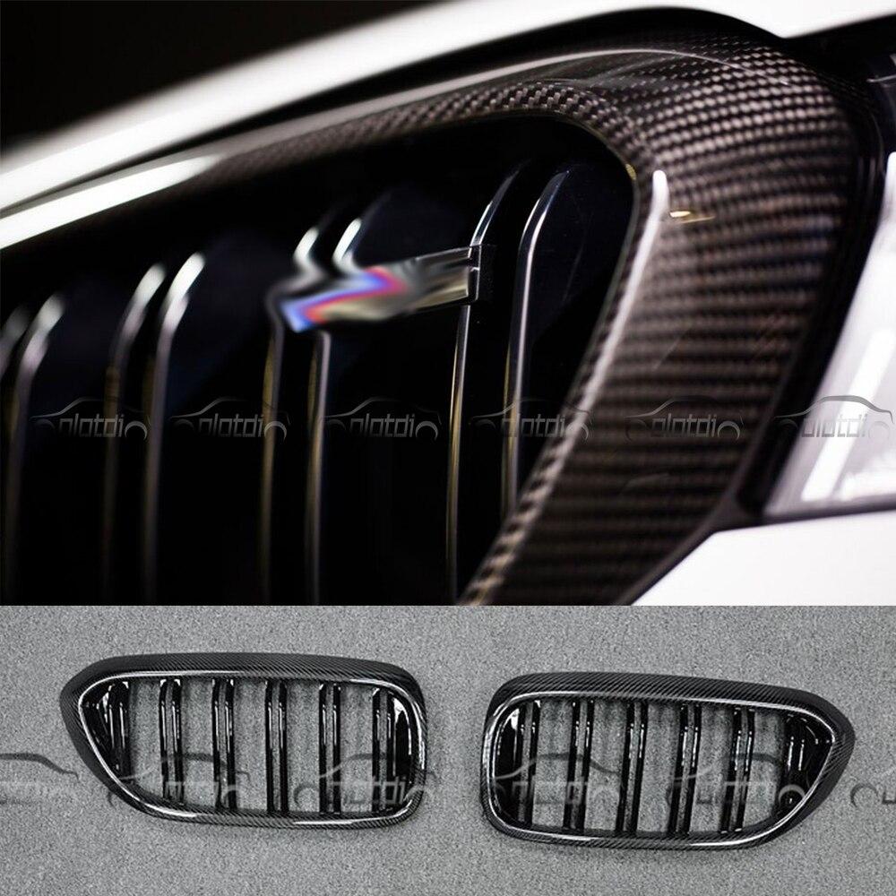 G30 M5 Style voiture Style rein vraie Fiber de carbone & m-color Auto grilles de course avant Grille pour BMW G30 F90 M5 nouvelle série 5