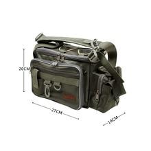 Trulinoya Nylon Fishing Bags Multifunction Outdoor Fishing Waist Pack Pesca Fishing Reel Lures Shoulder Bag Fishing Tackle