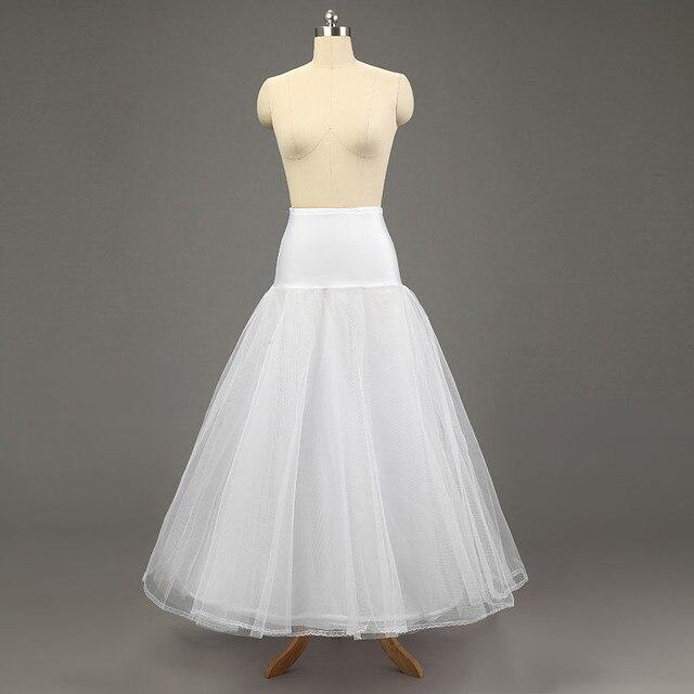 2017 Blanco Barato Underskirt Crinolinas Enagua de La Boda Falda 2016 Tul Jupon Enaguas de La Enagua de La Boda Párr Vestidos de Novia