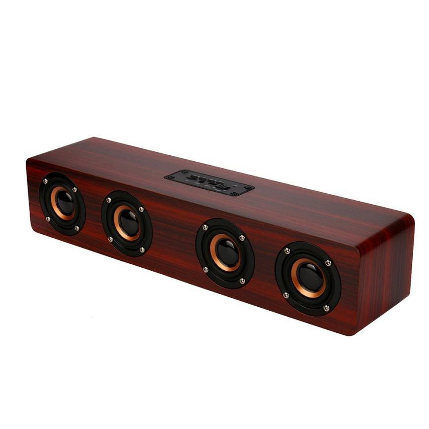 Binmer Portable Audio Video Speakers Wireless Bluetooth Speaker Super Bass Stereo Speaker Retro Wood Speaker drop shipping dec22