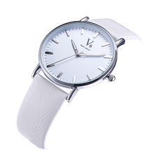 V6 brand watch men classic style round quartz watch new high quality leather wristwatch simple fashion business Wrist watches