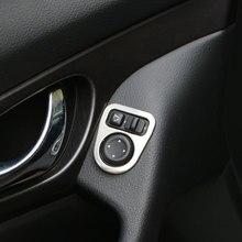 Farbe Mein Leben Edelstahl Innen Rearview Rückansicht Spiegel Einstellung Abdeckung Trim aufkleber Für Nissan Qashqai J11 2014  2018
