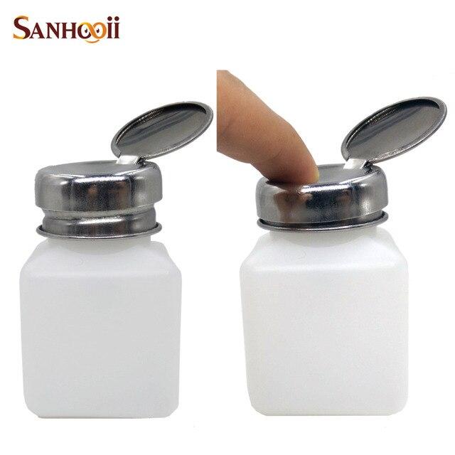 DIY 100ML Press Pump Liquid Alcohol Rosin Thinner Nail Art Polish ...